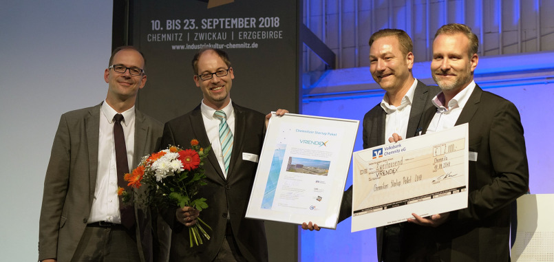 VRENDEX gewinnt Chemnitzer Startup Paket 2018