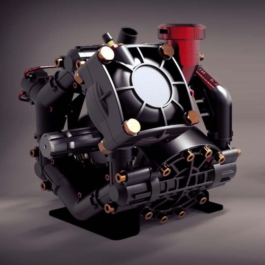3D Rendering - Pumpe