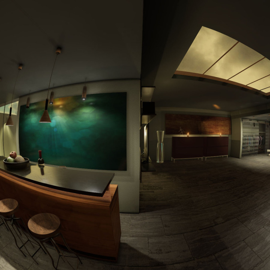 VR Applikation, 360° Rendering Lichtdesign
